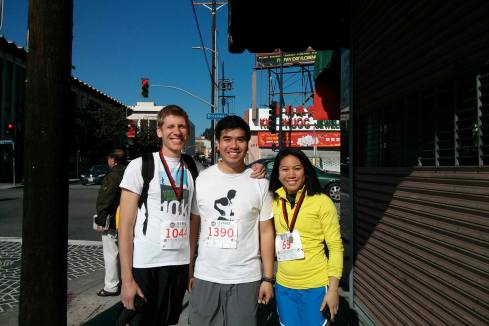 "Alex Rx and Kevin also participated in the ""hilly"" 5k!  Good job guys!"