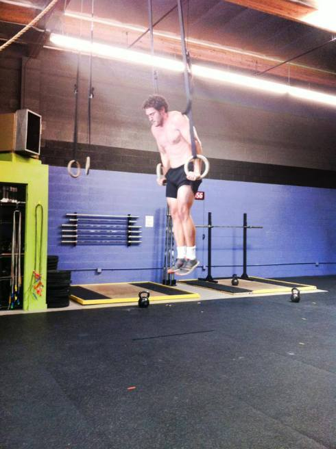 Geoff got his first muscle up today during 'Nate'! And he busted out 12 more after that! Congrats, Geoff!